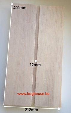 Bughouse Balsa spreid plank 12mm