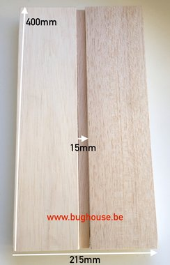 Bughouse Balsa spreid plank 15mm