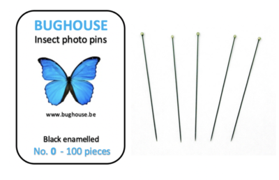 BUGHOUSE Insect Photo pins NR-0 (100 pieces) black rust proof steel