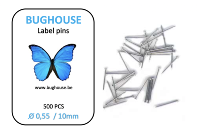 BUGHOUSE label pins 500 pieces