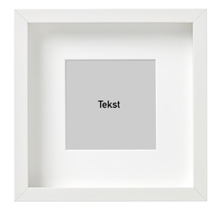 Empty frame 25x25cm color white (shadow box)